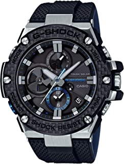 CASIO(カシオ) G-SHOCK GST-B100XA-1A スマートフォンリンクモデル ブラックxブルー 腕時計 メンズ ソーラー G-STEEL Gスチール カーボン調 [並行輸入品]