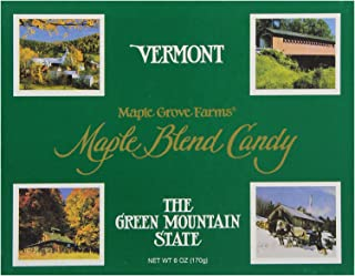 Maple Grove Farms Blended Maple Candy, Vermont State Box, 6 Ounce