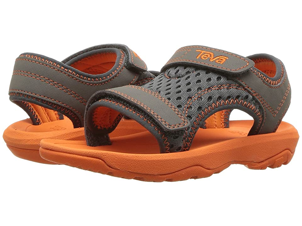 Teva Kids Psyclone XLT (Toddler) (Grey/Orange) Boys Shoes