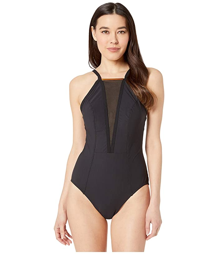 Miraclesuit Amoressa by Miraclesuit Gol Standard Bullion One-Piece (Black) Women