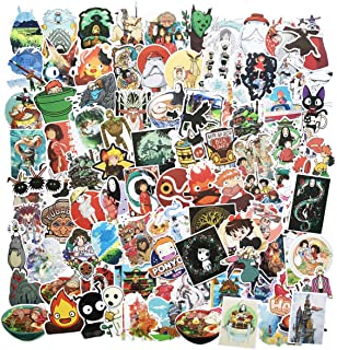 100PCS Cartoon Japanese Anime Stickers Lovely Boy and Girl Sticker Laptop Computer Bedroom Wardrobe Car Skateboard Motorcycle Bicycle Mobile Phone Luggage Guitar DIY Decal (Japanese Anime)
