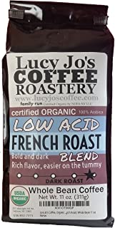 Lucy Jo's Coffee, Organic Low Acid French Roast, Whole Bean 11 oz