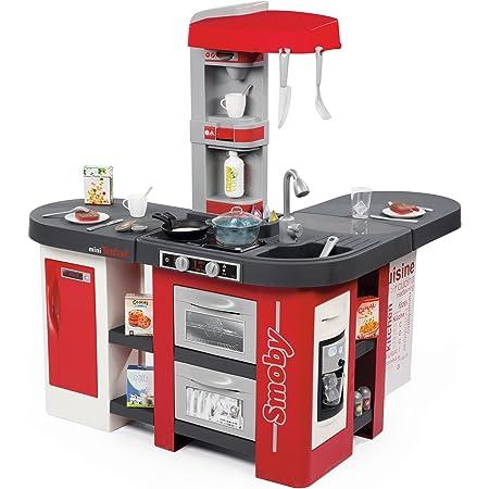 SMOBY - Cucina Studio XXL Bubble, 7600311025 inclusi frigorifero, forno, lavastoviglie, macchina del caffè, con 38 accessori, simula l'effetto dell'acqua che bolle, + 3 anni