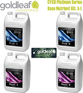 CYCO Platinum Series Base Nutrient Kit w/ Grow and Bloom - 5 Liter Size