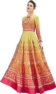 Yellow Anarkali Style Suit