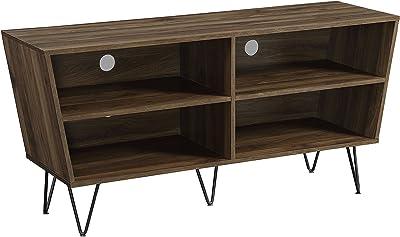 "WE Furniture AZ52CRODW TV Console, 52"", Dark Walnut"