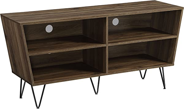 WE Furniture AZ52CRODW TV Console 52 Dark Walnut