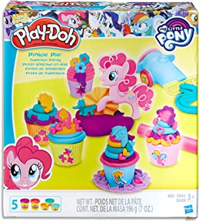 Play-Doh - My Little Pony - Pinkie Pie Cupcake Party inc 5 Tubs of Dough, Frosting Cannon & Acc - Creative Kids Toys - Ages 3+