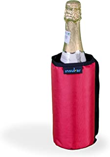 Insular Wine and Beverage Cooler Sleeve (Red) - Keep Wine,Champagne,Beers & Beverage Cold on The go Without Gel Pack| Portable Insulated wrap is Perfect for Parties,BBQ,Picnics&Outdoor Activities