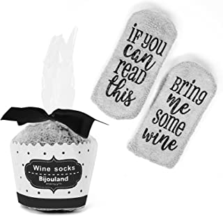 If You Can Read This Bring Me Some Wine, Fuzzy Socks Unisex, Funny Cute Saying Socks Wedding Bridal Shower Gift Idea