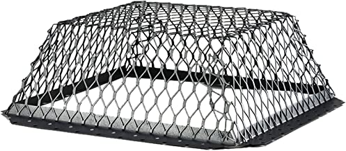 HY-C RVG1616G Galvanized Black Roof VentGuard with Wildlife Exclusion Screen, 16 x 16 x 6
