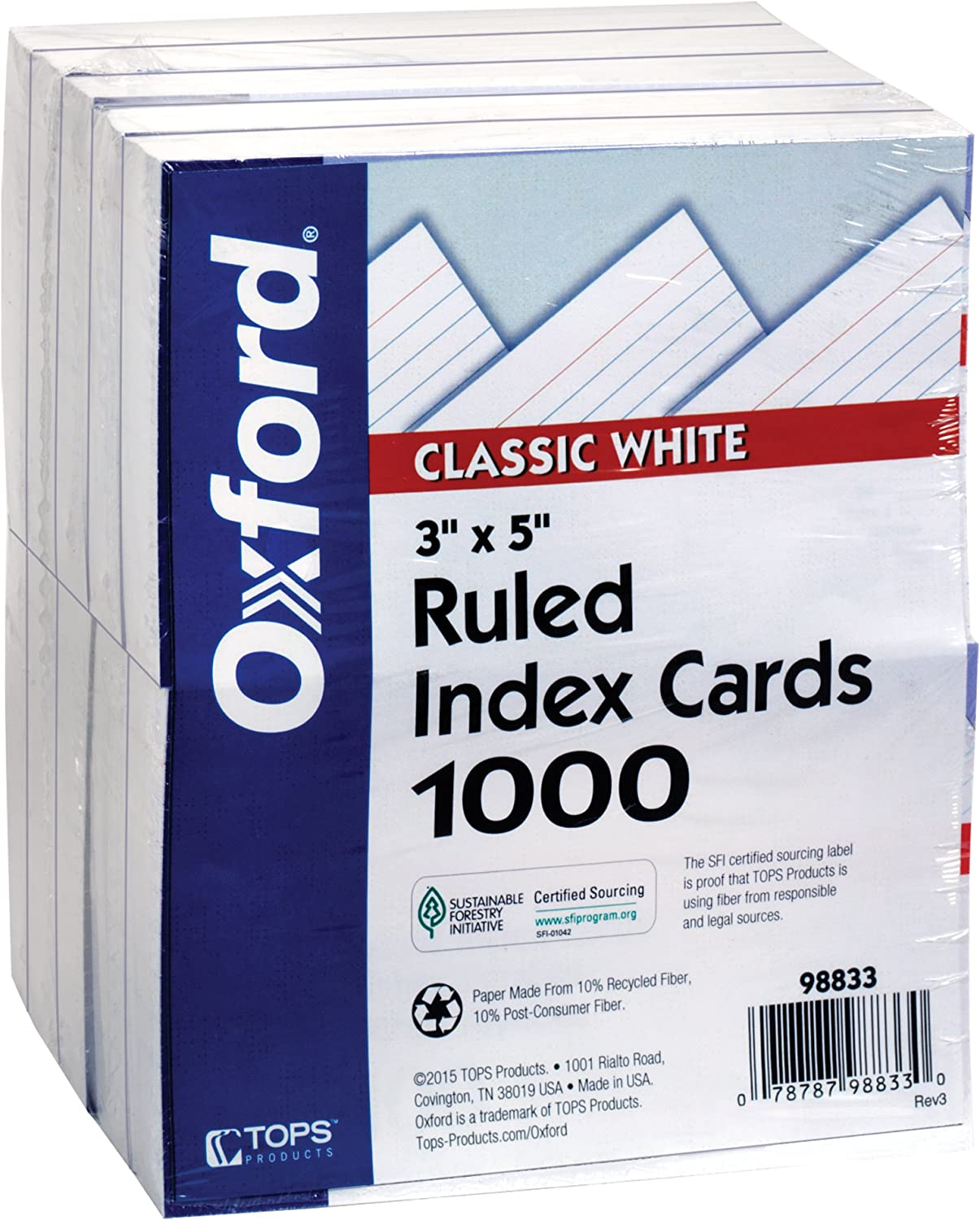 Product of Oxford Ruled White Index Popular overseas Cards 5