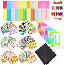 Sunmns Colorful Bundle Kit Accessories Set Compatible with Fujifilm Instax Mini 11 9 8 90 70 Camera, Accessory Include Film Stickers, Desk Frames, Hanging Frame