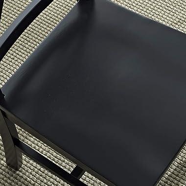 Walker Edison Modern Farmhouse Wood X-Back Armless Dining Chairs Kitchen, Set of 2, Black