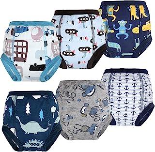 Flyish Lot de 6 Pantalons d'entraînement pour Pot pour bébé sous-vêtements d'entraînement pour Enfants sous-vêtements pour...