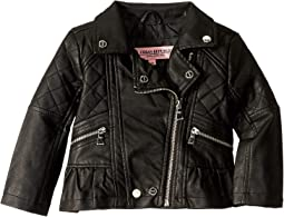 Faux Leather Moto Jacket (Toddler)