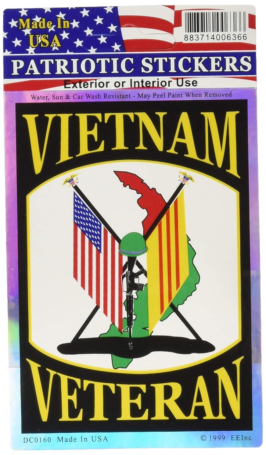 EagleEmblems DC0160 Sticker-Vietnam,Vet.Flags (3x4'')