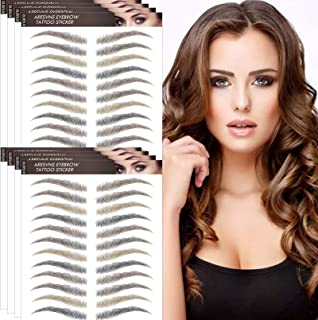 Aresvns 4D Eyebrow Tattoos 96 Pairs 4 Colors!Multi Color Tattoo Eyebrows, Imitation Eyebrow Stickers,Realistic Eyebrow Tra...
