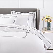 Pinzon 400-Thread-Count Hotel Stitch Duvet Cover, Cotton, Silver Grey, King