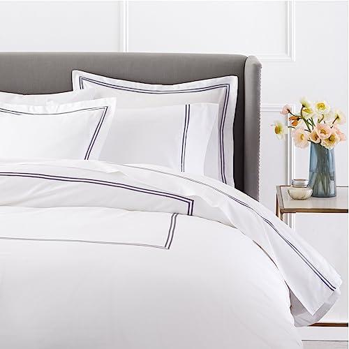 b219dea21a78 Pinzon 400-Thread-Count Egyptian Cotton Sateen Hotel Stitch Duvet Cover -  Full