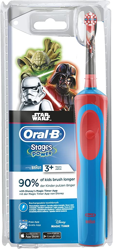 Oral-B Kids Vitality 100 Kids Elektrische Kinderzahnbürste Star Wars Timer App