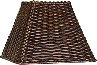 Wicker Square Lamp Shade 4.75x11x8 (Spider) - Brentwood