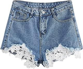 MAKEMECHIC Women's Cutoff Pocket Distressed Ripped Jean Denim Shorts