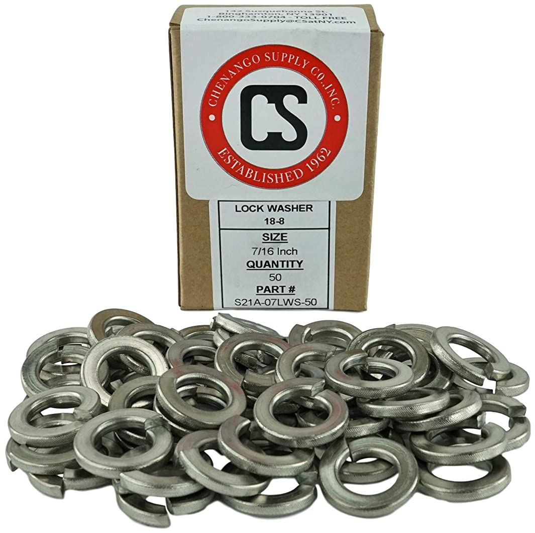 Stainless 7/16-14 Lock Washer, 304 Stainless Steel, 50 pieces (7/16-14 Lock Washer)