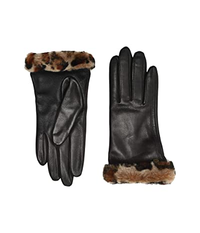 UGG Classic Leather Shorty Tech Gloves (Leopard) Extreme Cold Weather Gloves