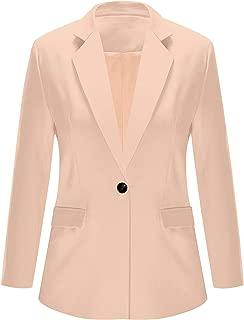 ACKKIA Women Business Casual Notched Lapel Pocket Work Office Blazer Jacket Suit