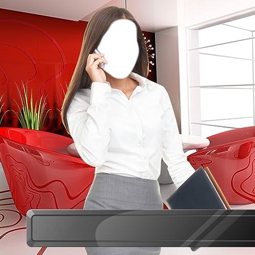 Montage photo de fille d'affaires