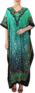 Kaftan Tunic One Size Cover Up Maxi Dresses Lougewear Embellished Kimono