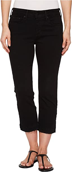 Capris w/ Released Hem in Black