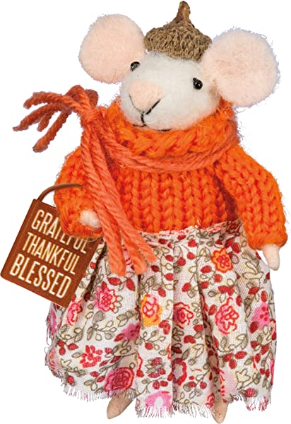 PBK Fall Decor Thankful Grateful Blessed Mouse