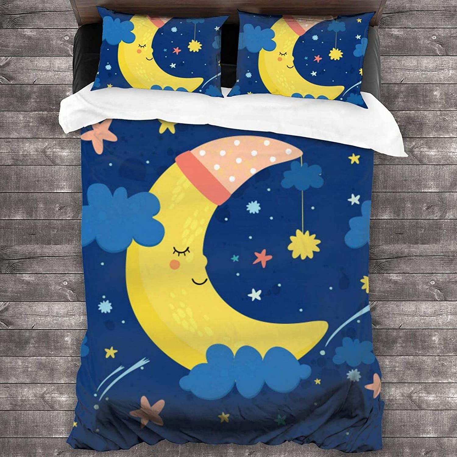 Superlatite PANILUR Bedding Duvet Cover 3 Piece The Great interest in Sets Moon Sky is