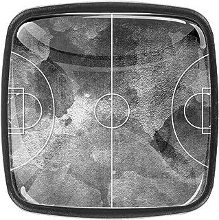 Terrain de basket noir 4 PCS Tiroir de Porte Poignée, Bouton de Meubles, Boutons de Tiroir, Boutons de Porte, Poignées de ...