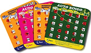 Regal Games Original Assorted Auto and Interstate Travel Bingo Set, Bingo Cards Great for Family Vacations, Car Rides, and...