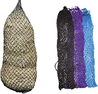 """Derby Originals 56"""" XL Super Slow Feed Poly Rope Hanging Full Bale Hay Net with 1x1"""" Holes"""