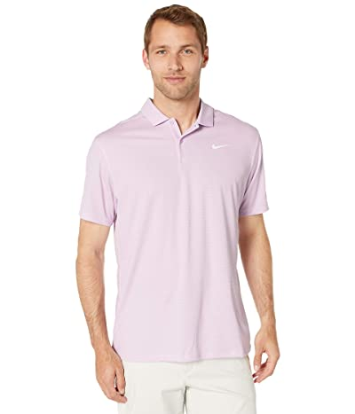Nike Golf Dry Essential Elevated Polo (Lilac Mist/Pure/White) Men