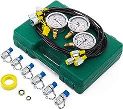 VEVOR Hydraulic Pressure Gauge Kit Excavator Parts Hydraulic Tester Coupling Hydraulic Pressure Test Kit for Excavator Construction Machinery (Hydraulic Pressure Test Kit) (25/40/60Mpa/6Couplings)