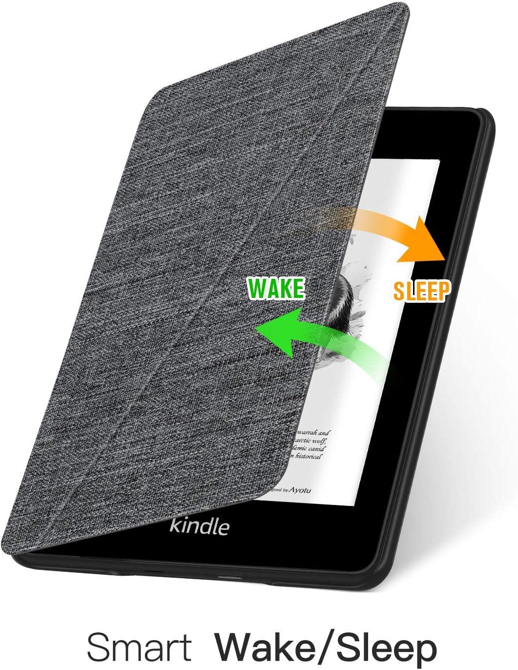 10a generaci/ón-2019 no Apta para Kindle Paperwhite d/écimo Funda para Soporte de Manos Libres con activaci/ón//suspensi/ón autom/ática Azul OLAIKE Funda Plegable de Tela Solo para Kindle