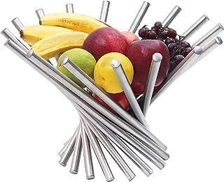 Frutero - Creativo Frutero plegable de acero inoxidable - Moderno antioxidante giratoria Cesta de frutas como decoración p...