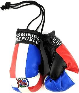 Hanging Car Mirror Mini Boxing Gloves (Dominican Republic)