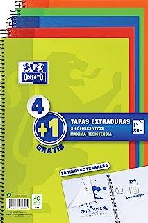 Oxford - Pack de 5 cuadernos (tapa extradura, 80 hojas,