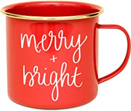 Sweet Water Decor Christmas Holiday Coffee Mugs with Quotes | 18oz Galvanized Steel Festive Coffee Cup | Seasonal Christma...