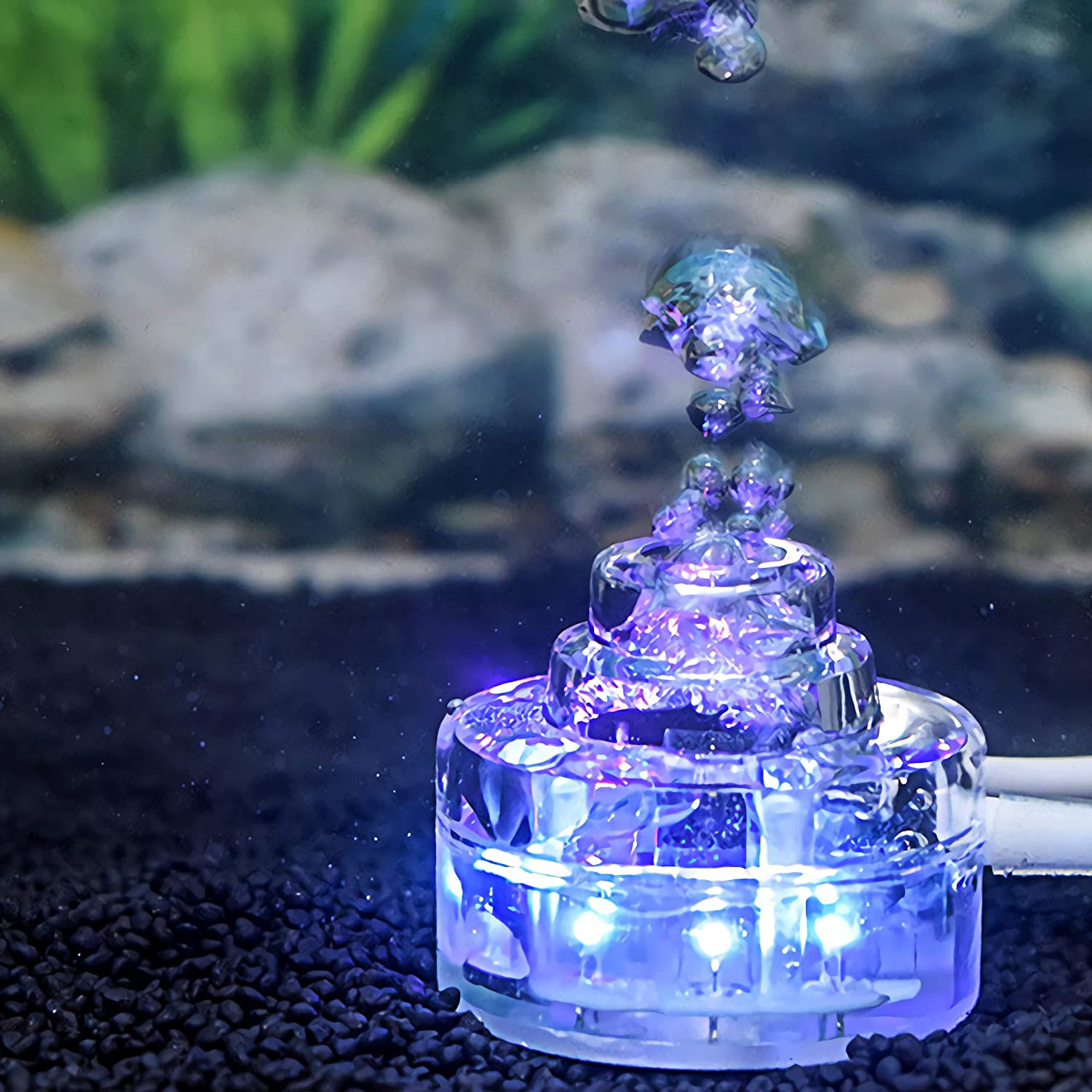 Zision Aquarium Bubbler Submersible LED for New product! New type 5 3 Tank Fish Superior Gallon