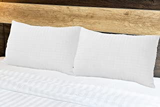 Glofresh Anti Microbial Quilted Pillow 1pc - 160TC 100% Cotton - White Size: 50 x 75 cm - 700 gm filling