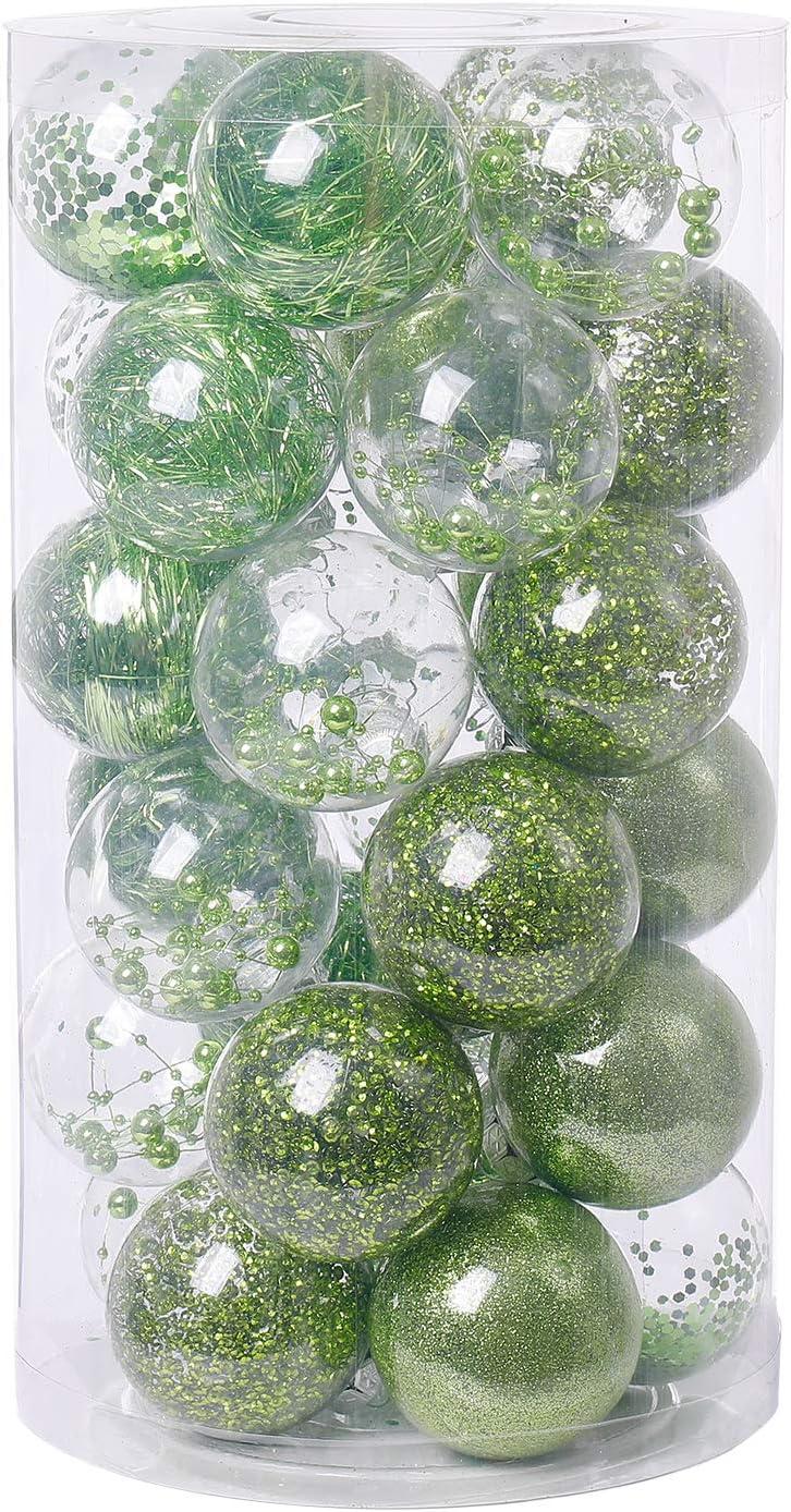 20ct Christmas Ball Ornaments 3.15 Shatterproof Christmas Tree ...