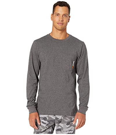 Timberland PRO Base Plate Blended Long Sleeve T-Shirt (Dark Charcoal Heather) Men