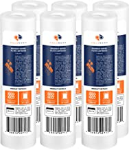 """Aquaboon 6-Pack of 5 Micron 10"""" Sediment Water Filter Replacement Cartridge for Any Standard RO Unit 